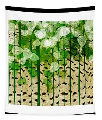 Aspen Colorado Abstract Square 2 Tapestry
