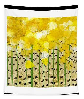 Aspen Colorado Abstract Square Tapestry