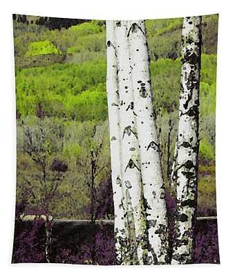Aspens 4 Tapestry