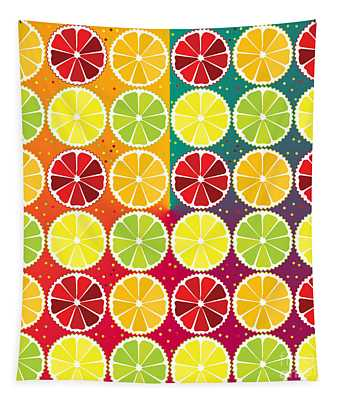 Assorted Citrus Pattern Tapestry
