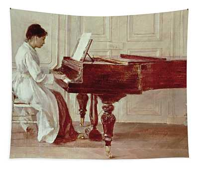 At The Piano Tapestry
