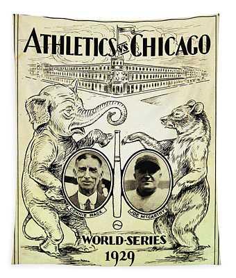 Athletics Vs Chicago 1929 World Series Tapestry