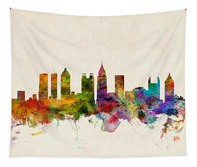 Atlanta Georgia Skyline Tapestry