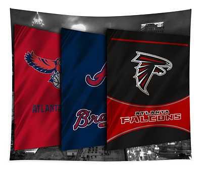 Atlanta Sports Teams Tapestry