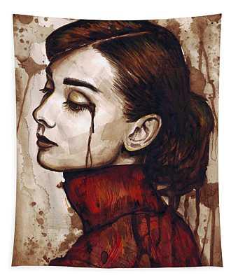 Audrey Hepburn - Quiet Sadness Tapestry