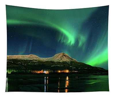 Aurora Borealis, Mt Ejsa, Reykjavik Tapestry