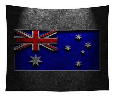 Australian Flag Stone Texture Tapestry