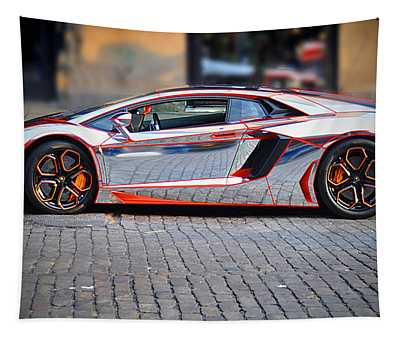 Tapestry featuring the photograph Automobili Lamborghini by Gary Keesler