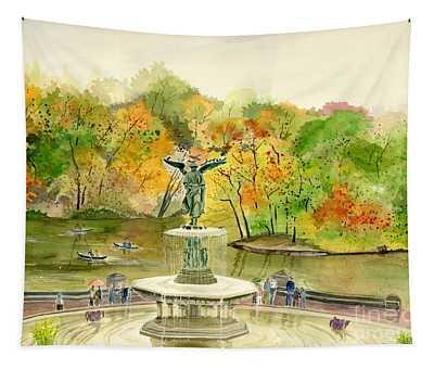 Autumn At Central Park Ny Tapestry