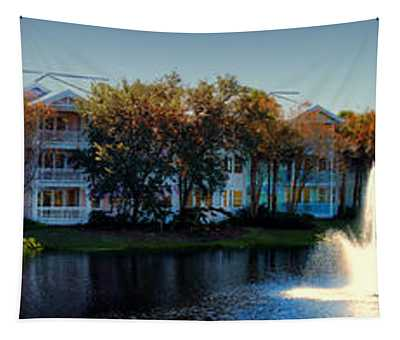 Autumn At Old Key West Resort Panorama Walt Disney World Tapestry