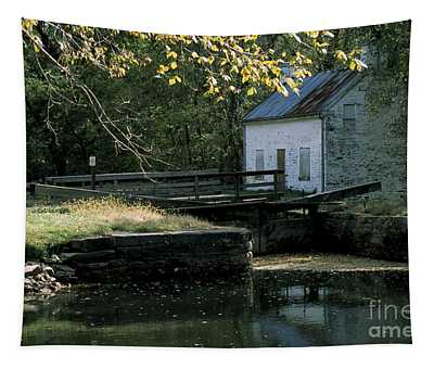 Autumn At The Lockhouse Tapestry