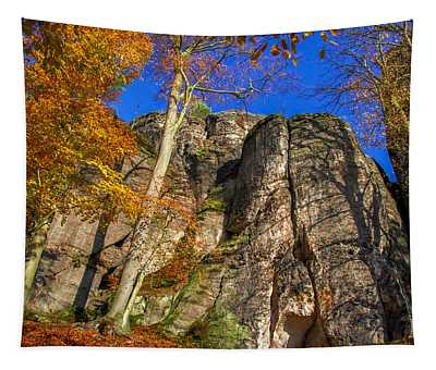 Autumn Colors In The Saxon Switzerland Tapestry