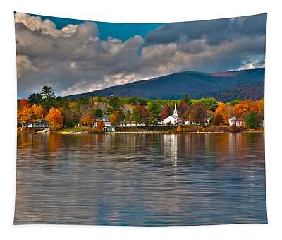 Autumn In Melvin Village Tapestry