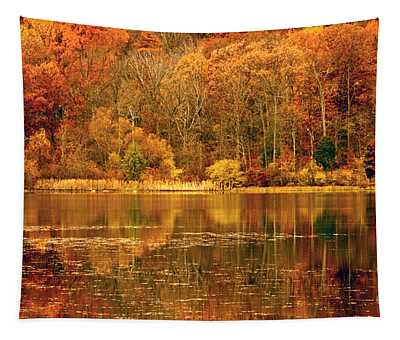 Autumn In Mirror Lake Tapestry