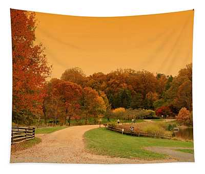 Autumn In The Park - Holmdel Park Tapestry