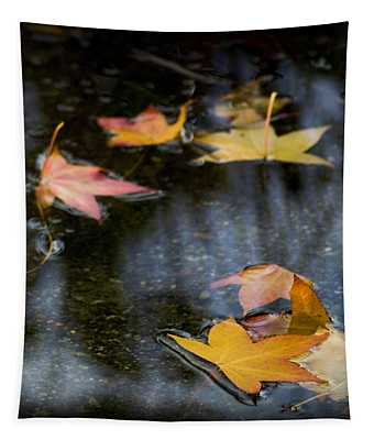 Autumn Leaves On Water Tapestry