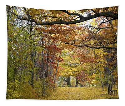 Autumn Nature Trail Tapestry
