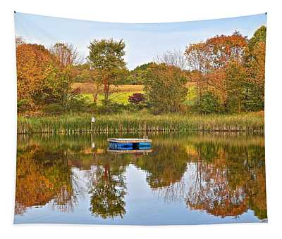 Autumn Pond Tapestry