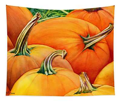 Autumn Pumpkins Tapestry