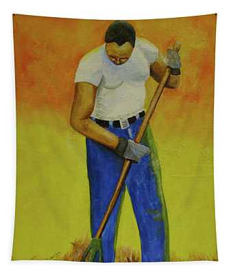Autumn Raking Tapestry