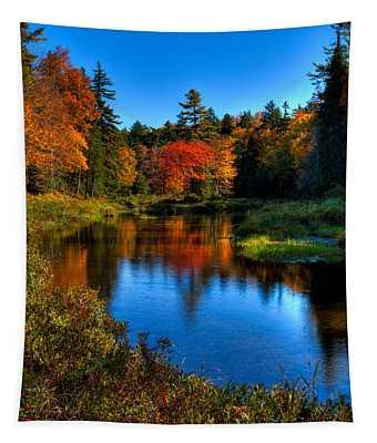 Autumn Splendor On The Moose River Tapestry