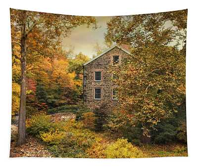 Autumn Stone Mill Tapestry