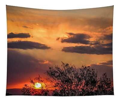 Tapestry featuring the photograph Autumn Sunrise by James Truett