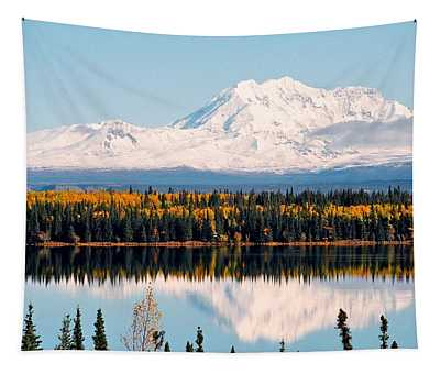 Autumn View Of Mt. Drum - Alaska Tapestry