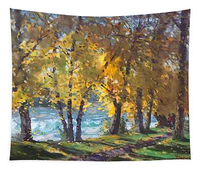 Autumn Walk Tapestry
