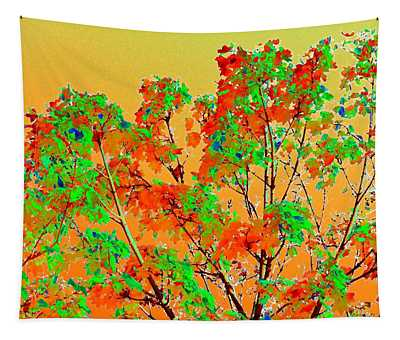Autumn Watercolor Painting Tapestry