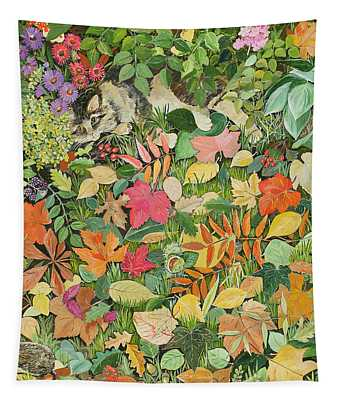 Autumnal Cat Tapestry