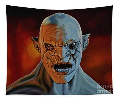 Azog The Orc Painting Tapestry