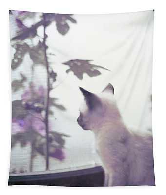 Baby Siamese Kitten Tapestry