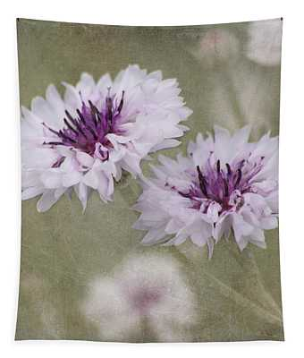 Tapestry featuring the photograph Bachelor Buttons - Flowers by Kim Hojnacki