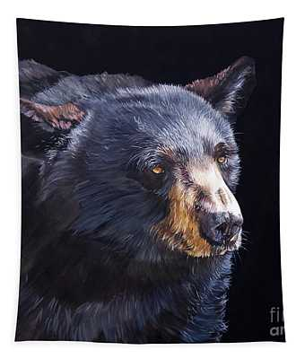 Back In Black Bear Tapestry