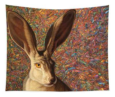 Tapestry featuring the painting Background Noise by James W Johnson