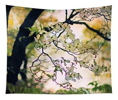 Backlit Blossom Tapestry