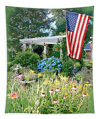 Backyard Paradise Tapestry