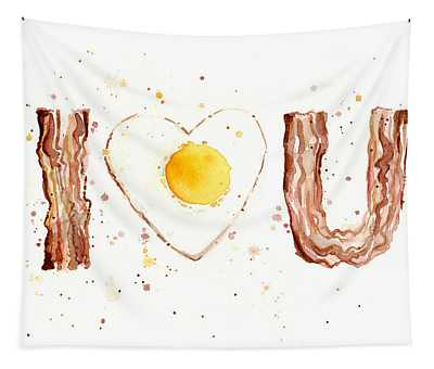 Bacon And Egg I Love You Tapestry