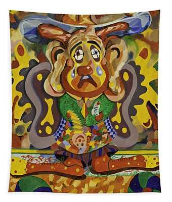 Balancing Clown Tapestry