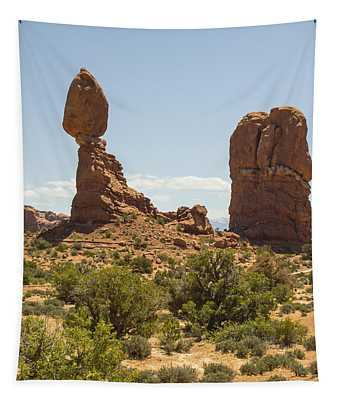 Balancing Rock In Arches Tapestry