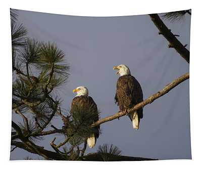 Bald Eagle Couple Tapestry