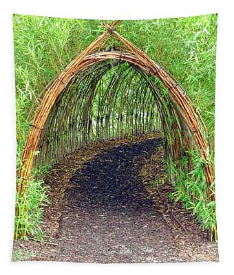 Bamboo Tunnel Tapestry