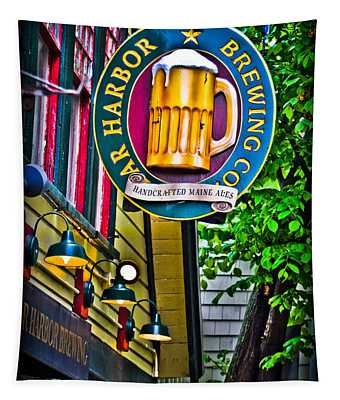 Tapestry featuring the photograph Bar Harbor Brewing Company by Gary Keesler