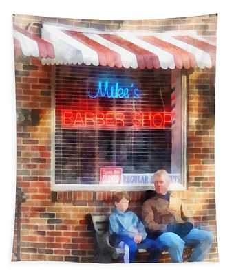 Barber - Neighborhood Barber Shop Tapestry