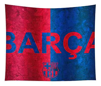 Barcelona Football Club Poster Tapestry
