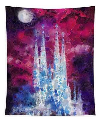 Barcelona Night Tapestry