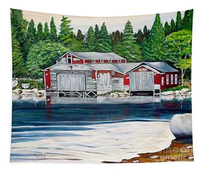 Barkhouse Boatshed Tapestry