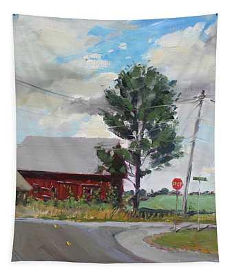 Barn By Lockport Rd Tapestry