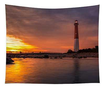 Barnegat Sunset Light Tapestry